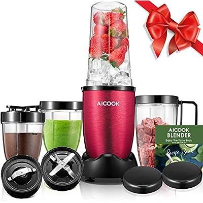Aicook Smoothie Blender (BPA free), 780W High-S...