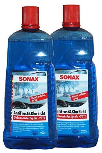 Preisjubel 2 x SONAX AntiFrost&KlarSicht 2l, Frostschutz, Scheiben-Enteiser, Glas-Reiniger
