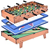 Giantex Multi Game Table, 4 in 1 32'' Combo Mini Game Table Top...