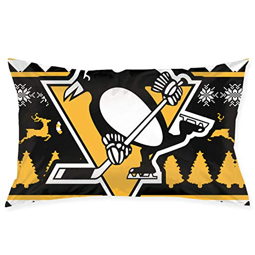 RobertKyles Pillow Case Pittsburgh-Penguins Guest Room Sofa Car Decoration Pillow Case Cushion Cover Square Pillow-Pillow Case 20inch 30inch