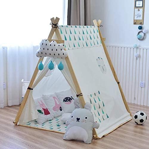 WYFDM Zelt Falten Kinder, Kinder Platz Zelt Baby Spielzeug Spielhaus Prinzessin Zimmer 100% Baumwolle Tragbar Und Faltbar
