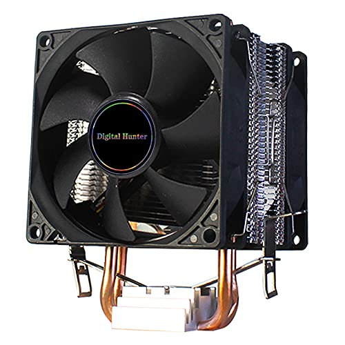 Tubos de Calor CPU Cooler 4 Pin PWM RGB PC Tranquilo Intel LGA 2011 775 1200 1150 1151 1155 AMD AM3 AM4 90mm CPU Ventilador de enfriamiento