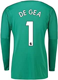 87a6d93b6ff Amazon.com : ZZXYSY DE GEA #1 Manchester United Kids and Men's Goalkeeper  Long Sleeves Jersey/Short Colour Green : Sports & Outdoors
