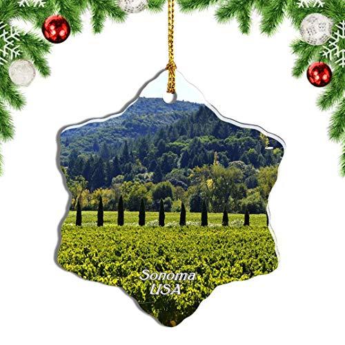 Weekino USA America Sonoma County Christmas Ornament Travel Souvenir Tree Hanging Pendant