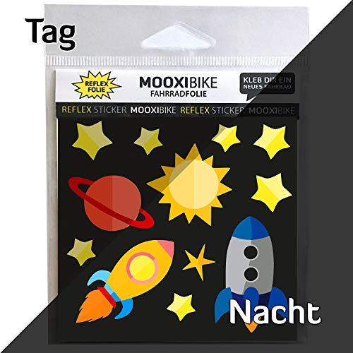 MOOXIBIKE Reflektierender Sticker Astronaut Fahrradaufkleber zur Dekoration von Fahrrad, Helm, Scooter oder Roller und Erhöhung der Sichtbarkeit im Straßenverkehr