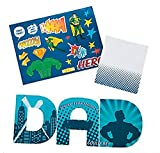 Super Dad Father'S Day Sticker Card - Crafts for Kids and Fun Home Activities