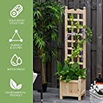 "Outsunny 11.75"" x 11.5"" x 49.25"" Raised Garden Bed with Trellis Board Back & Strong Wooden Design & Materials 11 ✅WIDE USE: With this helpful flower shelf, you can cultivate plants, making it more convenient to manage and take care them, in your patio, yard, garden, greenhouse, or anywhere you'd like to grow vegetables, herbs, or flowers ✅DECORATIVE EFFECT: The grid on the back can be decorated with rattans or around LED lights, making it a beautiful landscape and create a rustic style. It also offers ample growing space for plants, such as grapes, creepers, etc ✅CUSTOMIZABLE: The flower shelf can be painted in the varnish you'd prefer to blend well with your porch, patio or balcony. Ideal for people looking for a bit of personal touch"