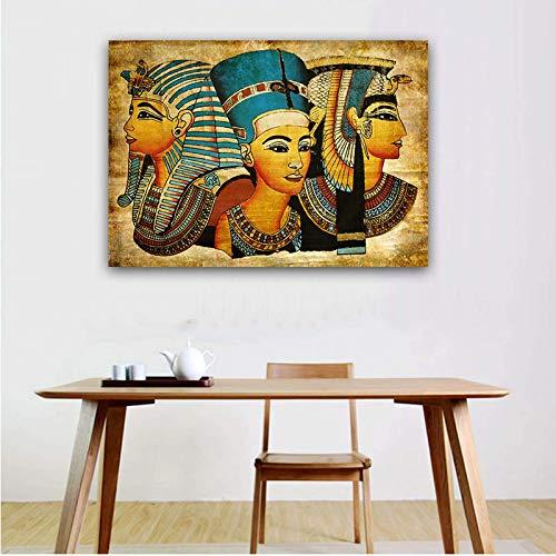 Asmoja Pastoral de 1000 Piezas, Paisaje Jigsaw Puzzle, Traje para el Ejercicio del Pensamiento de los Niños, Interacción Entre Padres e Hijos Faraón Egipcio Vintage 50x75cm