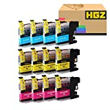 HGZ 12 Color Compatible Ink Cartridge Replacement for LC103 103XL Compatible with MFC J870DW J450DW J470DW J650DW J4410DW J4510DW J4710DW J6720 (4Cyan+4Magenta+4Yellow)