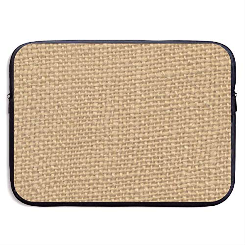 Brown Custom Rustic Burlap Printed Customize Personalized Personalize Create Laptop Sleeve Case Bag Cover for 15 Inch Computer