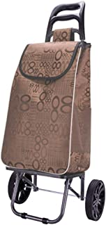 LQBDJPYS Folding Shopping Trolley Lightweight 2 Wheel Large Capacity Shopper Luggage Cart Folding Luggage Bags (Color : Co...