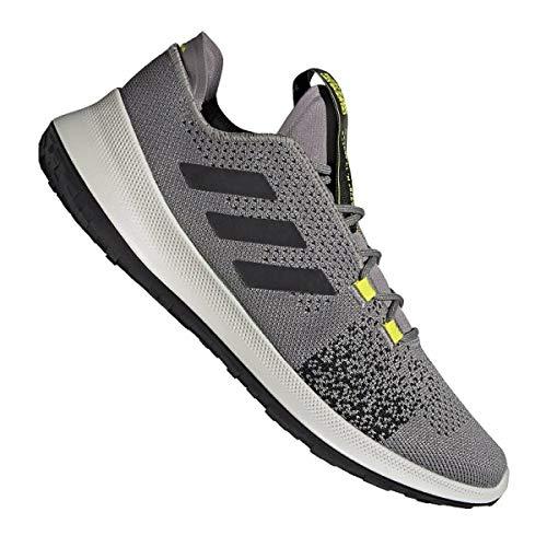 adidas SENSEBOUNCE + Ace M, Zapatillas de Running Hombre, Dove Grey/Core Black/Shock Yellow, 42 2/3 EU