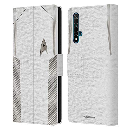 Head Case Designs sous Licence Officielle Star Trek Discovery Médecin du Fonctionnaire Uniformes Coque en Cuir à Portefeuille Compatible avec Huawei Nova 5T