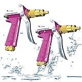 Pistola Da Giardino Alta Pressione, Senteen 2pcs Professionale Pistola Irrigazione Multifunzionale Pistola a Spruzzo Con Ugello In Ottone Pieno Per Lavaggio Auto/Irrigazione Prato Giardino