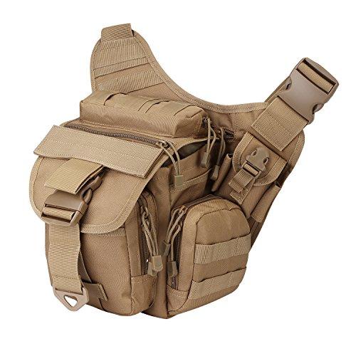 S-ZONE 600D Polyester Molle Tactical Schulterriemen Tasche Military Reise Rucksack Kamera Geld Utility Bag Taille Vagabund Daypack Versipack