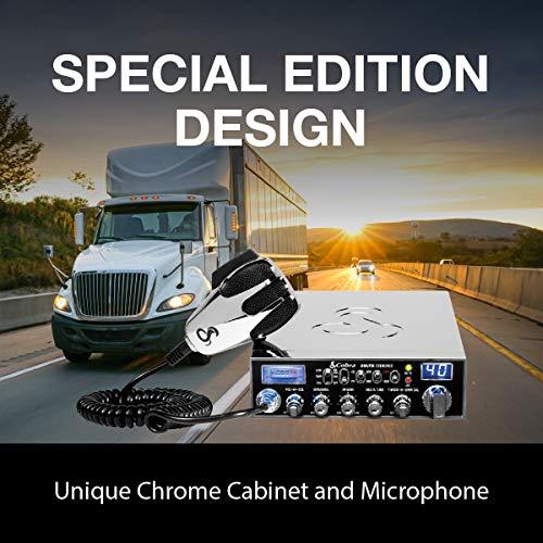 Cobra 29LTDCHR Professional CB Radio – Emergency Radio, Travel Essentials, Chrome, Talk Back, Instant Channel 9, 40 Channels, SWR Calibration , Black