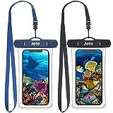JOTO [2 Stück] Wasserdicht Uni Handyhülle 7 Zoll Unterwasser Tasche (Waterproof Phone case) für iPhone 12/11 Pro Max XS XR X, Galaxy S20 Ultra S10 Note10 -SchwarzNavy