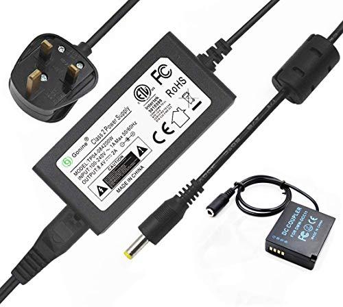 Gonine DMW-DCC11 DMW-AC8 - Adaptador de corriente alterna para cámaras digitales Panasonic Lumix DMC-GF6 GF5 GF3 GF3K GX7 S6 K TZ80 GX80 GX85 LX100 (reemplazo de batería DMW-BLE9/DMW-BLG10)