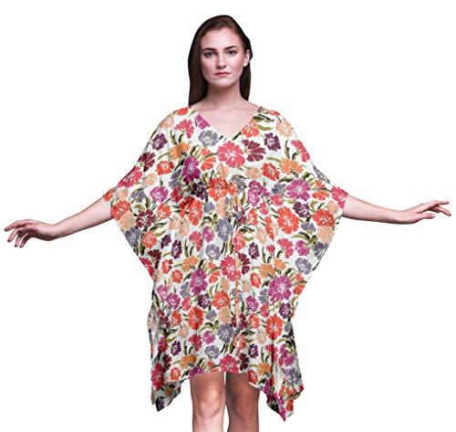 Bimba artistico señoras Tallas Grandes Kaftan Ropa de Verano Encubrimiento Kimono caftán-XL-3X