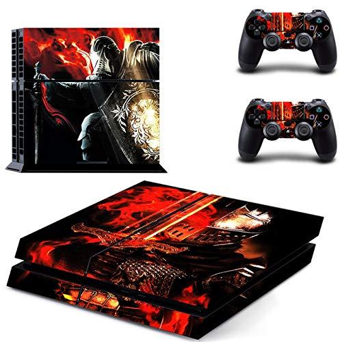WANGPENG Dark Souls PS4 Pegatinas Playstation 4 Piel Pegatina calcomanías Cubierta para Playstation 4 PS4 Consola y Controlador Pieles Vinilo