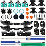 31 Pieces Replacement Game Controller Kit, Thumbsticks Grips Cap, Joystick, LB RB Bumpers Triggers, ABXY Buttons, Headphone Jack Plug Port, Screwdriver Compatible with Xbox ONE S Controller Model 1708