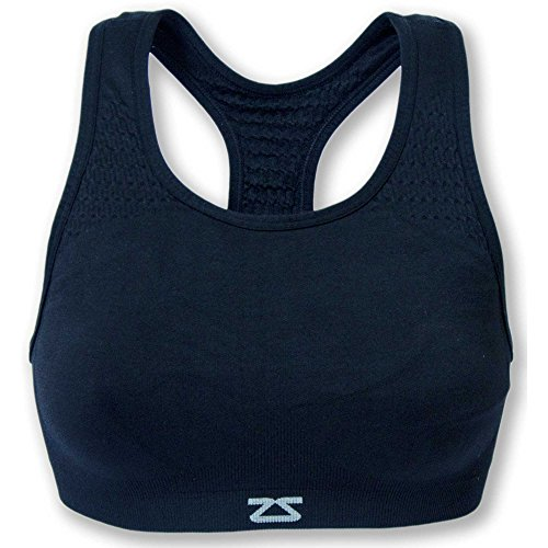 Zensah Seamless Sports Bra- Supportive, Comfortable, Best Bras for Running and Workouts for Women Navy