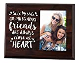 Elegant Signs Side by Side or Miles Apart - 4x6 Going Away Picture Frame for Your Bestie