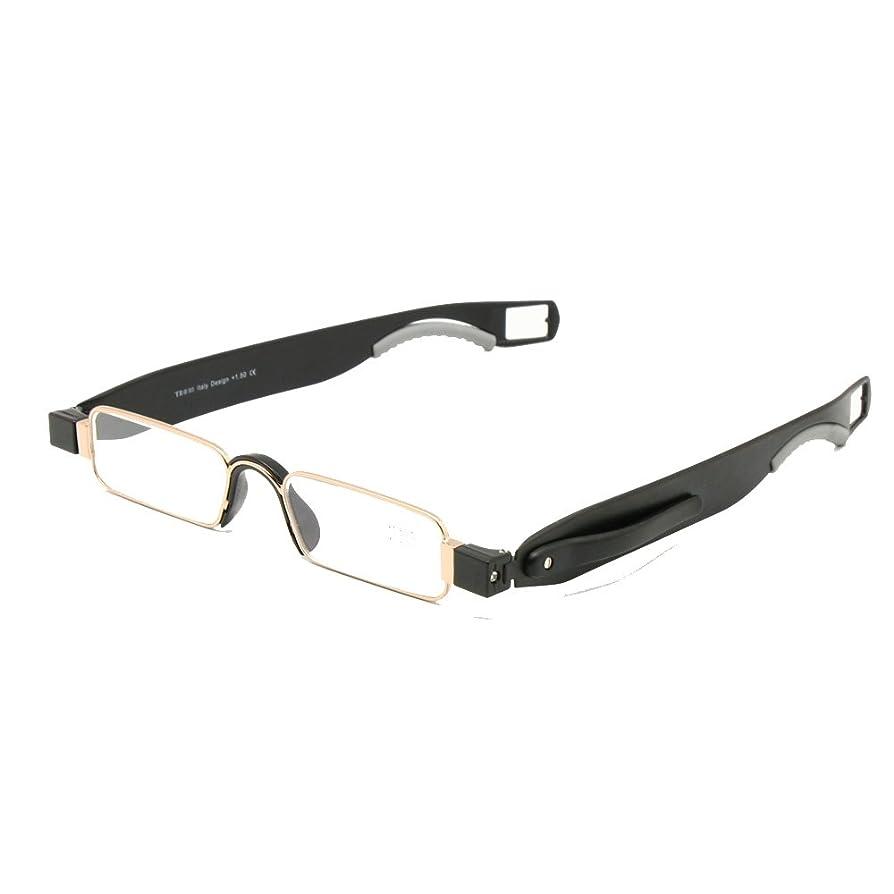 運営本当に襟折りたたみ老眼鏡レザーケースミニポケットリーダーフラット薄型老眼 + 1.0 ~ + 3.5 (+100, 1組)
