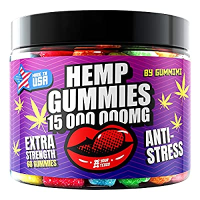 H?mp Gummies – Gummy Bears for Stress-Relief and P?in – High-Strength Formula – Fruity Candy Supplements for Relaxed Mood and Calm – Pack of 60 Soft Chews from GummiMi