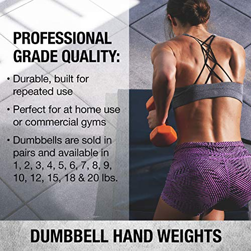 Product Image 5: SPRI Dumbbells Deluxe Vinyl Coated Hand Weights All-Purpose Color Coded Dumbbell for Strength Training (Set of 2) (Dark Blue, 5-Pound)