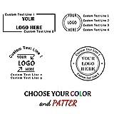 Timbro Personalizzato Logo,Timbro Personalizzabile,60x20 mm, 4 righe di testo,Timbri in go...