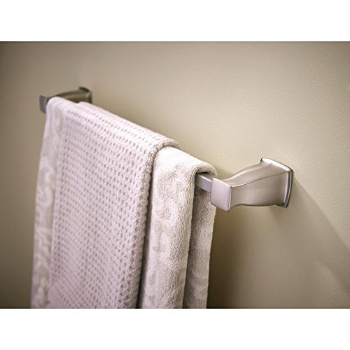 MOEN Hensley 24 in. Towel Bar with Press and Mark in Brushed Nickel