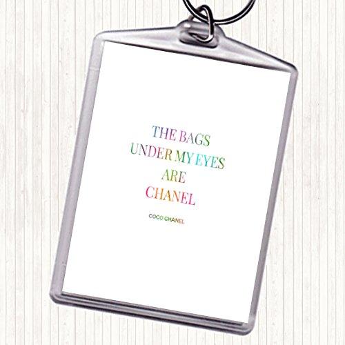 Coco Chanel Tassen Onder Mijn Ogen Regenboog Citaat Tas Sleutelhanger Sleutelhanger