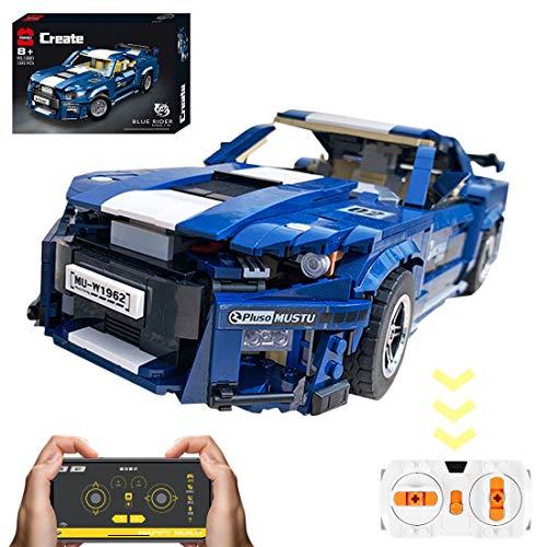 VIPO Technik Bausteine Auto für Ford GT500, 1623 Teile 2.4G Ferngesteuert Sportwagen Rennwagen Modell Kompatibel mit Lego Technic