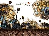 Papel tapiz fotográfico Barco de loto de hoja de loto 3D Lana Fondo De Pantalla XXL Papel pintado tejido no tejido Moderna Decoración De Pared Sala Cuarto 250 X 175 cm