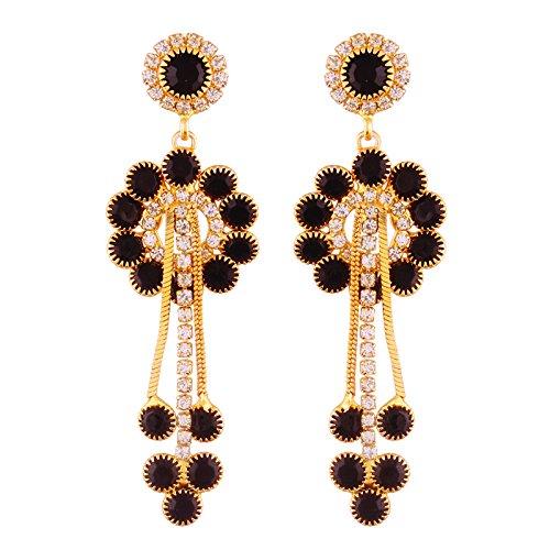 I Jewels - Pendientes de cadena chapados en oro para mujer (E2495BW)