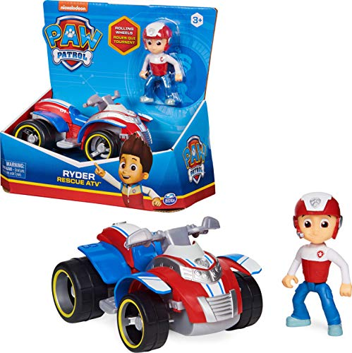 PAW PATROL Ryder's Vehicle with Collectible, for Kids Aged 3 and up Ryder