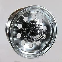 17.5 x 6.75 Aluminum Modular Trailer Wheel 8x6.50 Heavy Duty Center Cap & Flange Nuts Included