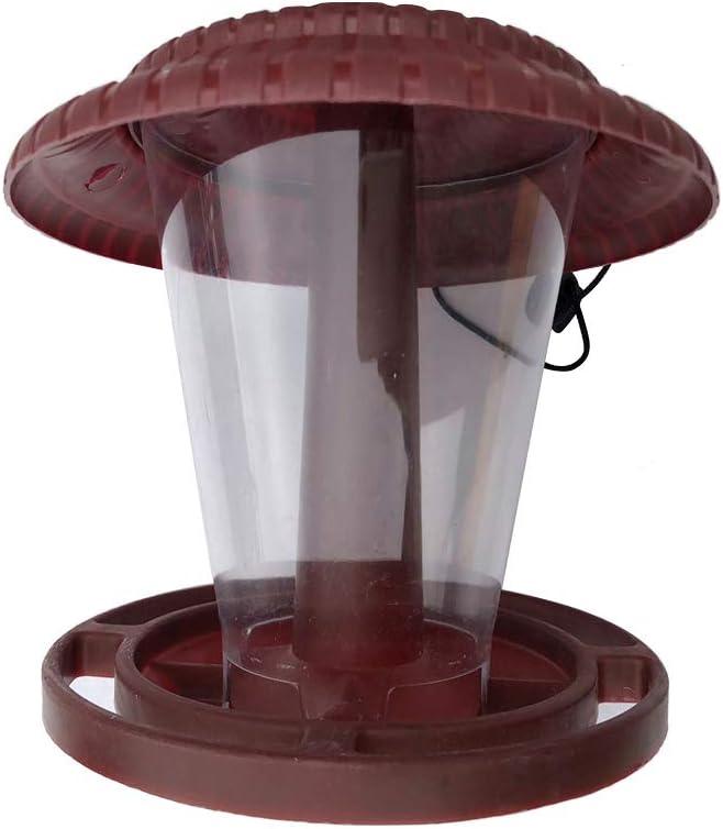 Kenyaw Stazione di Alimentazione Sospesa Cibo per Uccelli Casetta per Uccelli Distributore di Cibo Impermeabile Mangiatoia per Uccelli Casetta per Uccelli per Uccelli Selvatici Rosso