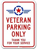 UT-TP Veteran Only Reserved Parking Signo thank you for your service Signo, Industrial Grade Aluminum, Easy Mounting