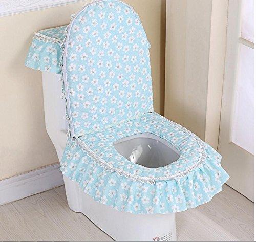 HQQ Toilettenmatte Anti-Rutsch-Matte Badezimmer dreiteilig WC-Sitz WC-Sitz WC-Sitz Waschmaschine dreiteilige WC-Reißverschluss Typ Universal-WC-Sitz (Farbe : C)
