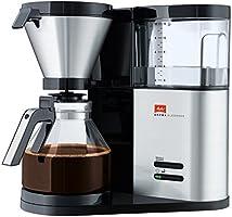 Melitta AromaElegance 1012-01, Cam Sürahili Filtre Kahve Makinesi, Aroma Seçici, Siyah Paslanmaz Çelik, 1.2 litre, 1000 W