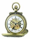 Charles-Hubert Paris 3868-G Classic Antique Gold-Plated Case Mechanical Pocket Watch