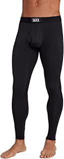 Saxx Mens Thermal Tight Athletic Compression & Base Layer Tights,