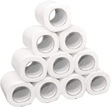 Rokment White Toilet Paper Toilet Roll Tissue Roll Pack Of 10 3Ply Paper Towels Tissue Absorbent Hand Towels (12 Roll)