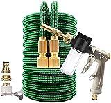Manguera de jardín extensible de alta presión para lavado de coche, tubo de plástico con pistola pulverizadora, manguera flexible mágica