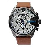 FENKOO Reloj deportivo para hombre con dos horarios rusos, militar, de cuarzo, informal, relogio Masculino reloj hombre