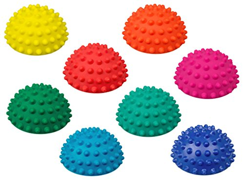 AFH-Webshop 8er-Set | Therapie Balance Igel Mini sehr fest | Durchmesser: 9 cm | Gymnastik Igel | Igelball | Kleiner Balance Igel, ideal für Kinder, nur mit Turnschuhen zu betreten