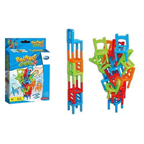 Stühle, Die Spielzeug Stapeln, Stühle Stapelblöcke - Balancing Toys - Hochwertiges Tower Stacking Spiel - Plastic Chairs Multicolor Mini Stacking Multiplayer Balance-Spiel Für 3 Jahre Und Älter