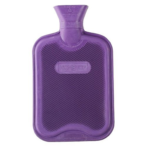Hometop Premium Classic Rubber Hot Water Bottle, Great For Pain Relief, Hot And Cold Therapy (2 Liters, Purple)